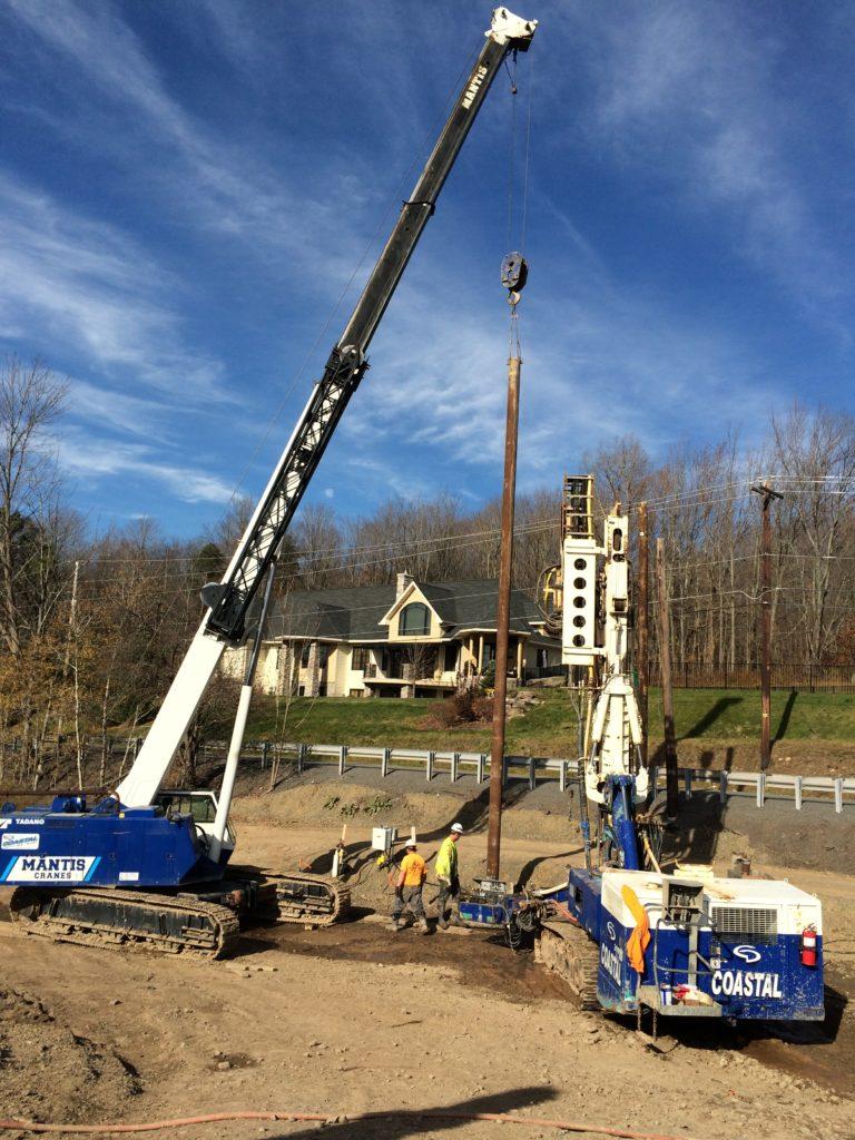 1. Elmhurst Dam Soldier pile install